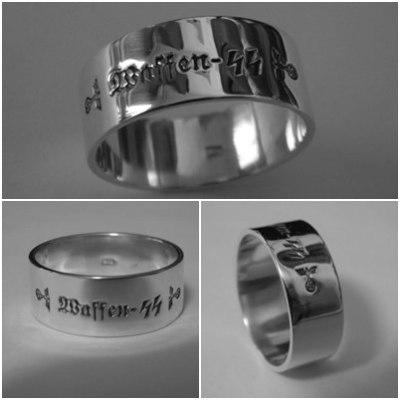 Waffen SS german silver ring