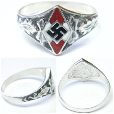 Swastika German silver ring