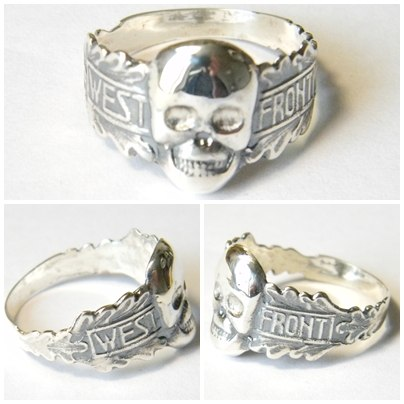 West Front Skull German Ring