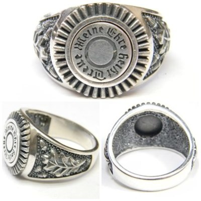 """Reproduction of the WW2 German Silver Ring """"meine Ehre heißt Treue"""", what translated like """"my honor called loyalty"""""""