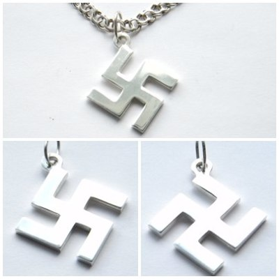 german swastika necklace silver