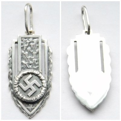 Shield Swastika Necklace