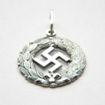 Silver Nazi Swastika Necklace